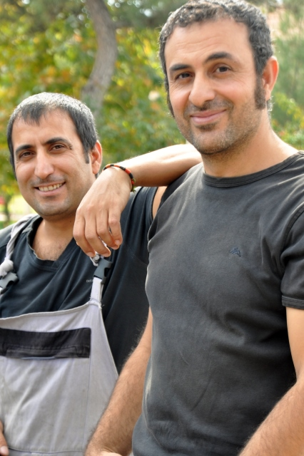 Ferat (left) and friend Erkan