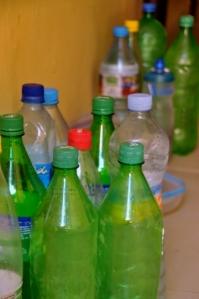 Steve's collection of Sahara bottles