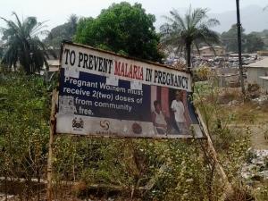 Signboard Malaria
