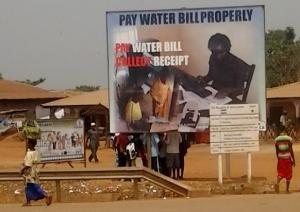 Signboard Water