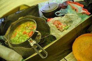 Koken in een Dichte Tent