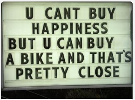 U can't buy happiness but...