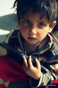 Boy from a remote village in the hills