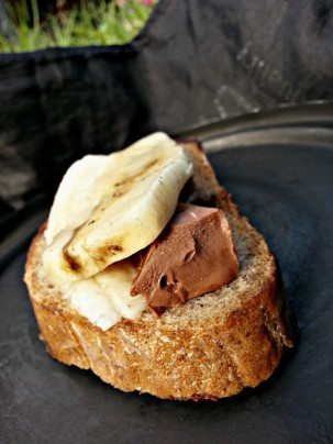 Banana & Ritter Chocolate on 5 days old Bread