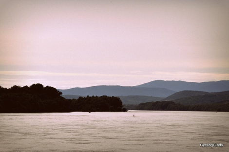 A nice view of the river, on our way to Budapest