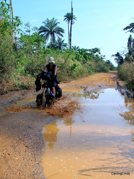 Pushing in Liberia. West Africa