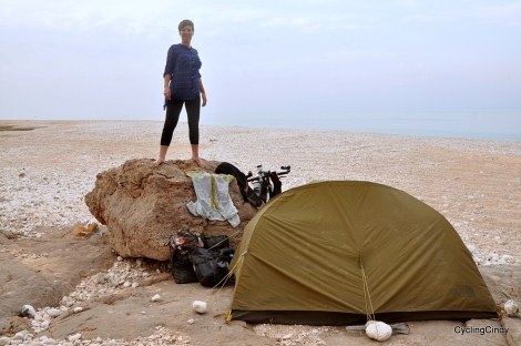 Beach camp in Oman. Here I experienced a scary night