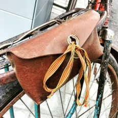 Cute! Almost a Brooks saddle bag, just as good