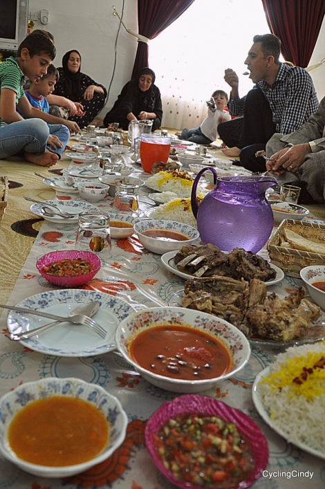 Iraq dinner. Shops were closed due to Eid, and so I was welcomed when I tried to buy veggies. The guy at the shop said 'come to my family'.