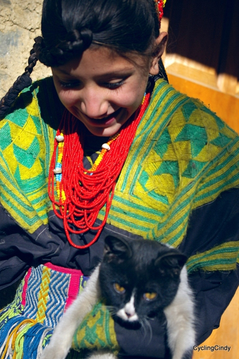 Krishna the Black cat, she was given to me by the mother of this girl, Uran