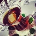 Green fingertip chai saucer