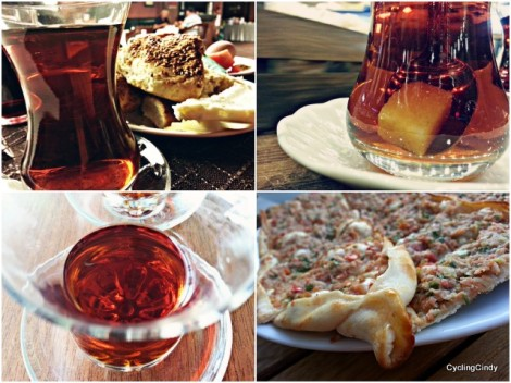 Chai, chai, chai. Always more chai. With lahmucan pizza. Great!