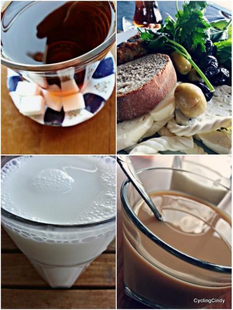 Breakfast/ayran/chai/chai with milk. I AM HAPPY!