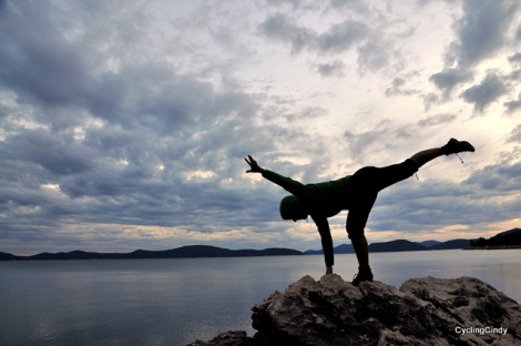 And they were all good photo's, my yoga poses on a rock in the ocean