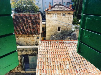 View from apartmani in the old town of Split