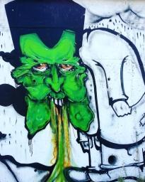Split art on the wall