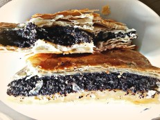 Filo dought with poppy seed