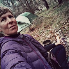 Mornings are around 0 degrees, but very pleasant still to be out in camp