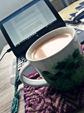 A room, chai and writing: love that