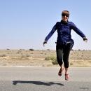 Happy to go off main road in Oman