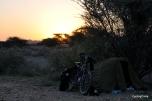 Hidden camp in Oman, near a big town