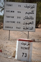 Distances towards the Sahara