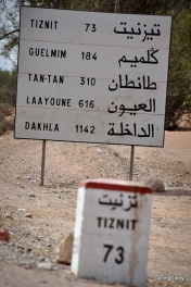 Distances towards the Sahara