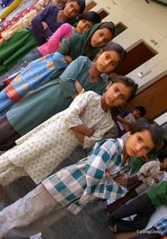 Standing in line in school
