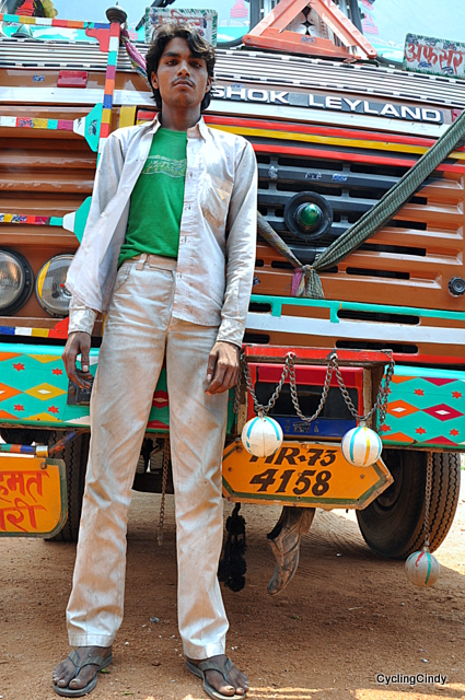 What a beautiful Bollywood alike young (17) truck driver!