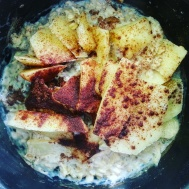 Good old porridge with apple and cinnamon