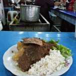 Cheap food in the mercado central, and good!