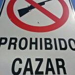 'No hunting' sign made me laugh after leaving the cartel in Paraguay