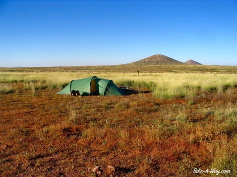 Wild camping in New Mexico, USA
