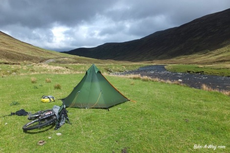 Camping in open view, Scotland