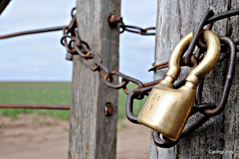 Often gates are closed with a multitude of locks.