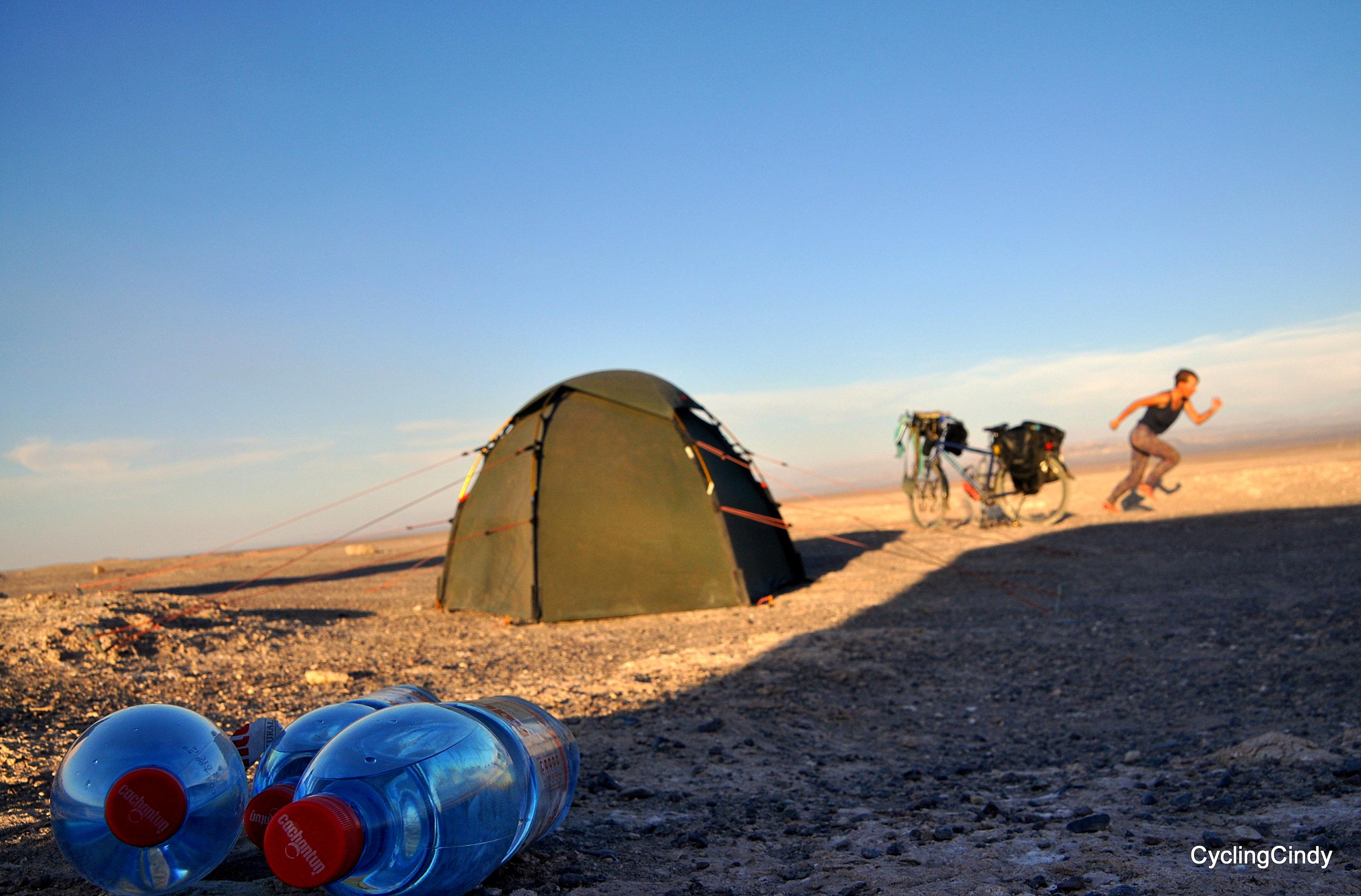 Enough water and plenty of pleasure in the Atacama desert, Chile.
